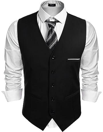 f3183afaba964 (クーファンディ)Coofandy ジレ ベスト メンズ ビジネス フォーマル スーツ仕立て 2ポケット 5ボダン