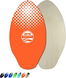 BPS Skimboard with Epoxy Coating/High Gloss Clear Coat | Colored Wooden Skim Board for Kids and Adults | Choose from 3 Sizes and Board Color