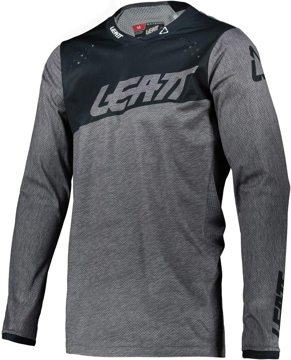 Large Black Skull Leatt 2021 Moto 4.5 Lite Jersey
