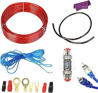 Leoie Amplificador Subwoofer Instalaci/ón de Altavoz 8GA 5m Cable de alimentaci/ón 1500W AMP Fusible Holder Car Audio Altavoces Kit de cableado Cable 60A