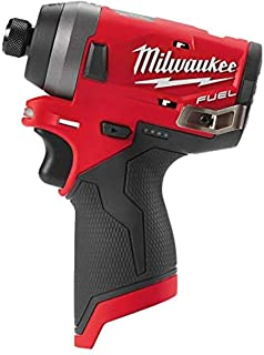 Milwaukee M12FID-0 Fuel Sub Compact 1/4 inch Impact Driver 12V Bare Unit, 12 V, Red