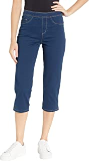 D-Lux Denim Pull-On Capris in Indigo Indigo 14