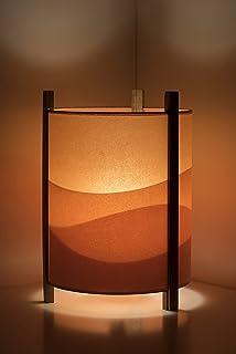 Lámpara de mesa original - Sala de estar - Lámpara de mesa 25x38cm - Lámpara color naranja.