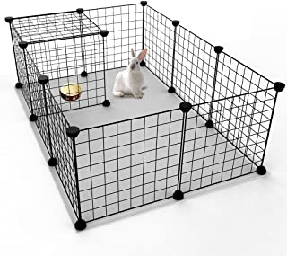 JYYG Small Pet Pen Bunny Cage Dogs Playpen Indoor Out Door Animal Fence Puppy Guinea Pigs, Dwarf Rabbits PET-F
