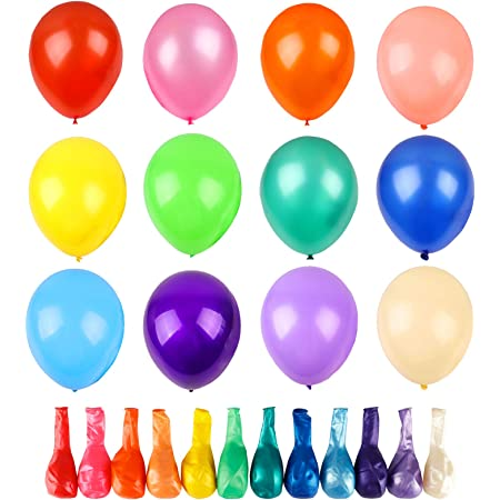 1 Pack of 15 Twist Spiral Party Balloons Latex Multi-coloured Birthday Wedding