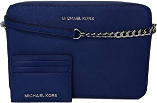 MICHAEL Michael Kors Jet Set Item Large EW Crossbody bundle with Michael Kors Jet Set Travel SM Card Case Carryall Wallet