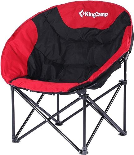 KingCamp – Chaise de Camping&Trekking Lune – 76  50  50cm - Structure en Acier et Textile Impermeable - Charge jusqu'à 120 Kg – Sac de Transport Fourni - Couleuris rouge