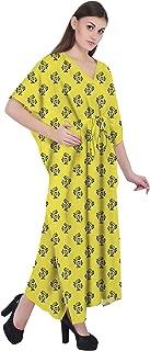 RADANYA Ikkat Women Bathing Suits Cover Up Cotton Kaftan Beach Maxi Dress Caftan
