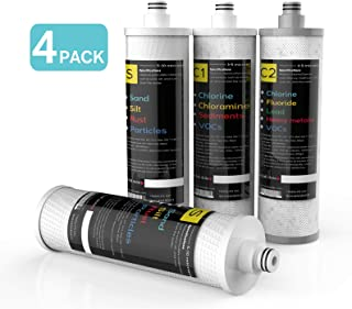 FRIZZLIFE M3005 Replacement Filter Cartridge Set (4 Pack) for SK99 and SP99 Under Sink Water Filter System