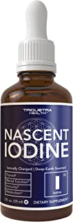 Nascent Iodine Supplement | 400 Servings, Glass Bottle, Vegan | 1800 mcg - 600 mcg per Drop | Pure, Clear Color | Supports Thyroid Health, Energy, Immunity & Metabolism (2 oz.)