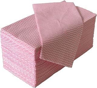 ストリックスデザイン カウンタークロス 100枚 ピンク 約30×61cm 使い捨て 不織布 ふきん テーブルダスター J-115