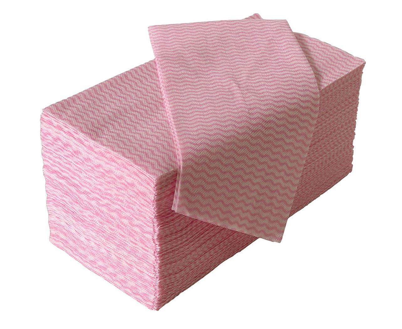 差別的振りかける最終ストリックスデザイン カウンタークロス ピンク 約30㎝×61㎝ 使い切りの 不織布 ふきん 100枚入