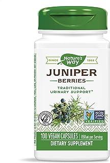 Nature's Way Premium Herbal Juniper Berries, 850 mg per serving, 100 Capsules