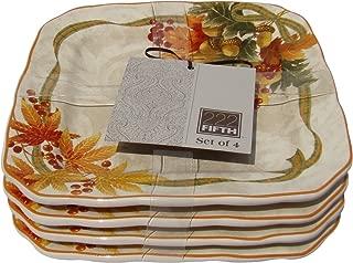 222 Fifth Autumn Celebration Appetizer / Bread Plates, Set of 4