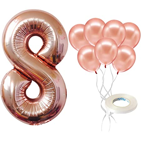 Blue Number 8 Balloon Foil Balloon Birthday Anniversay Wedding Part Decoration Age Numbers Birthday