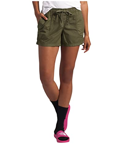 The North Face Motion Pull-On Shorts (Burnt Olive Green) Women