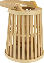 FRCOLOR Bamboo Hanging Lantern Candle Holder Rattan Rustic Vintage Lantern Table Centerpiece Decorative Lamps for Garden K...