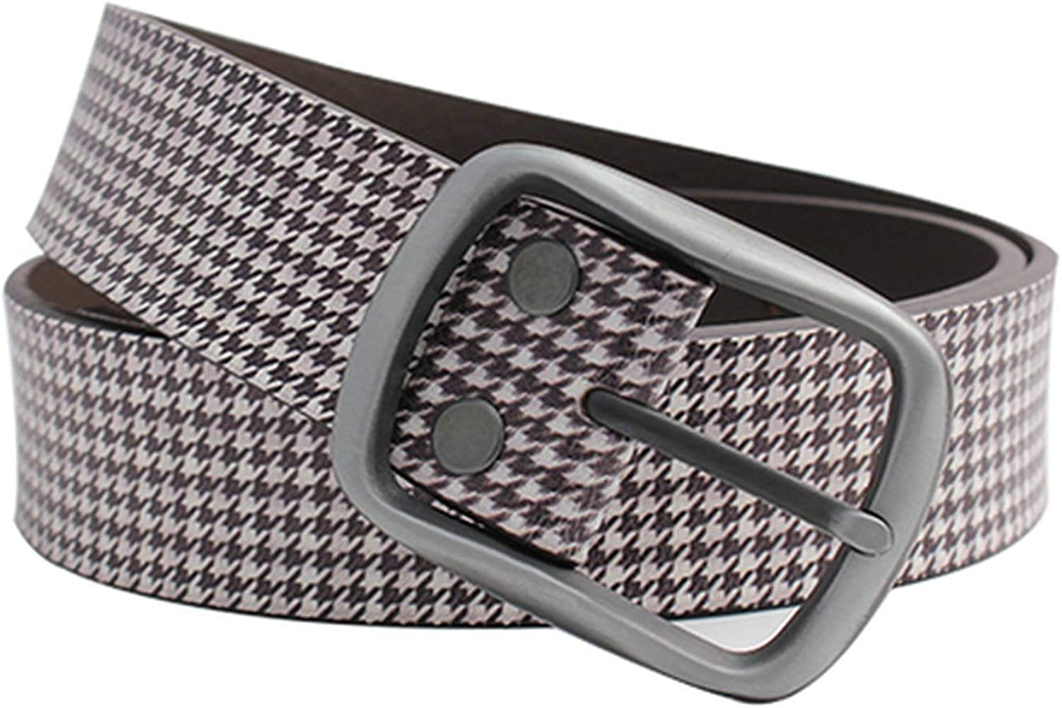 Houndstooth Plaid Print Women Belts All Match Split Leather Trousers Jeans Belts Students Casual Belt,as picture