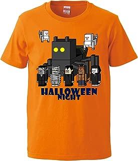 [Chara Park] ハロウィン Halloweenナイト モンスター プリントTシャツ メンズ M L XL グレー オレンジ 白