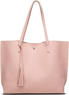 Women s Soft Leather Tote Shoulder Bag from Dreubea