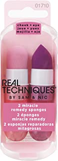Real Techniques Miracle Remedy Sponge (Pack of 2) Latex-Free Sponge Blenders For Foundation, Concealer, Beauty Products (Packaging May Vary)