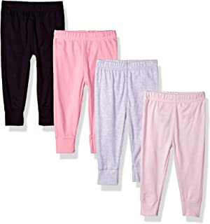 GERBER Baby Girls' 4-Pack Pants