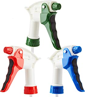 Leak Proof, High Capacity Spray Heads ONLY 3 Pack. Fits 22 Oz Bottles (NOT Incl). Clear, Heavy Duty Plastic Sprayers for M...
