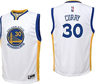 Outerstuff Stephen Curry Golden State Warriors #30 Youth Home Replica Jersey