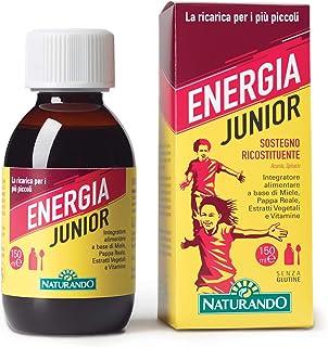 Naturando srl Energia Junior 150 Ml - Complemento Alimenticio Un Suplemento Dietético Con Miel. Jalea Real. Extractos Vegetales Y Vitaminas.