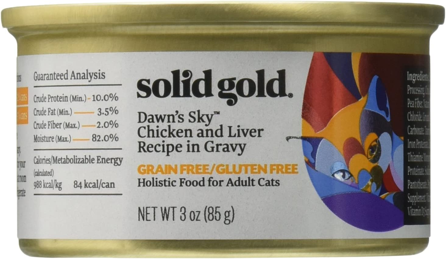 Discontinued By Manufacturer: Solid Gold Dawn'S Sky Wet Cat Food, 3Oz 12 Count