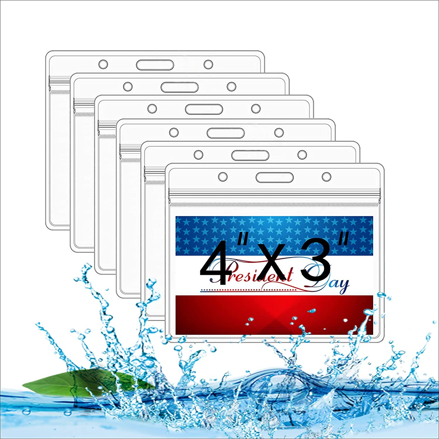6 Pcs Card Holder discount Badge PVC ID in Ca Protector Quantity limited 4x3