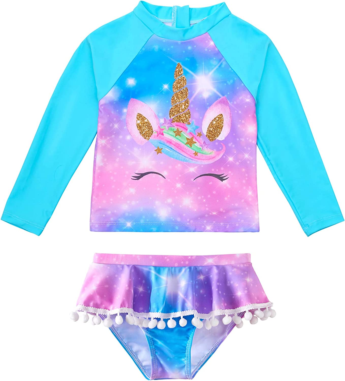 ICOSY Dallas Mall Girls Rash Guard Swimsuits Sleeve Sui Long Unicorn Bathing Challenge the lowest price