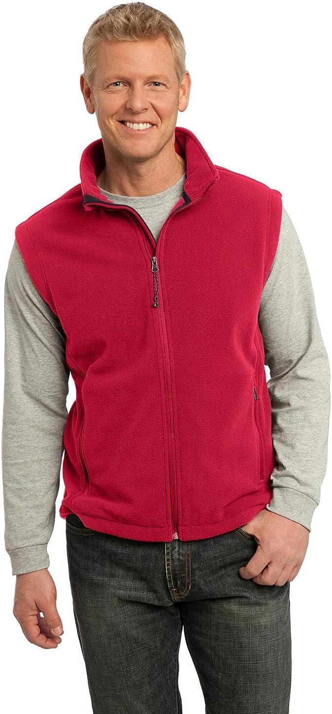 Port Authority Value Big and Tall Men Fleece Vest – 100% Po