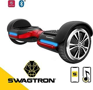 Swagtron App-Enabled Bluetooth Hoverboard w/Speaker Smart Self-Balancing Wheel