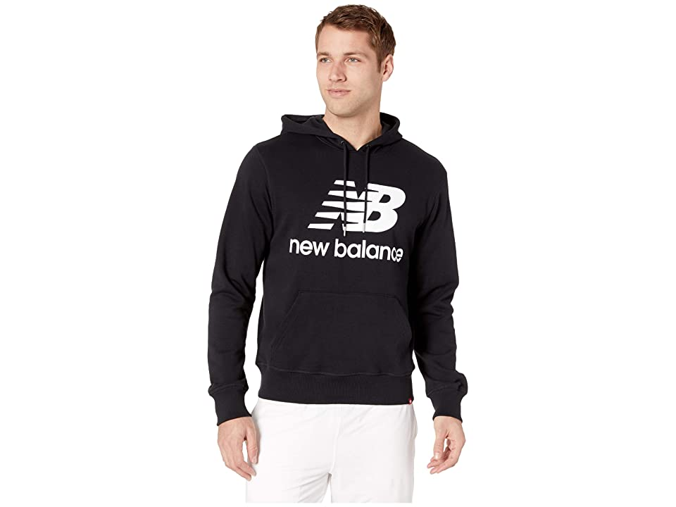 New Balance Essentials Stacked Logo Pullover Hoodie (Black) Men