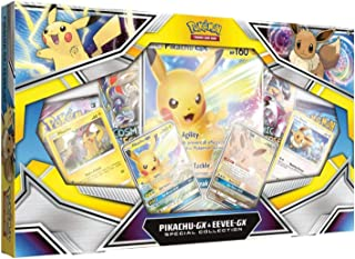 Pokemon TCG: Pikachu-Gx & Eevee-Gx Special Collection + 4 Booster Pack + Pikachu-Gx Foil Promo Card + Eevee-Gx Foil Promo Card