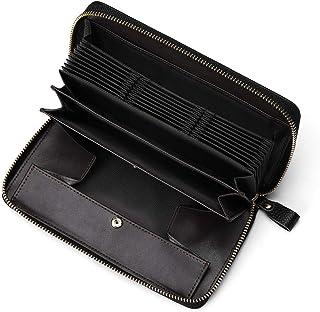 【doodeka】本革長財布 スキミング防止 BOX型小銭入れ付き ギャルソン財布