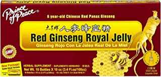 Prince of Peace Red Ginseng Royal Jelly, 10 Bottles, 0.34 fl. oz. Each – Energy Boosting Supplement – Ginseng Shots to Go ...
