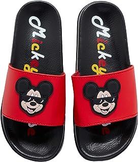 Disney Boys' Mickey Mouse Sandals - Slip-On Slides (Toddler/Little Kid/Big Kid)