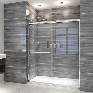 """ELEGANT Showers 52.5-54"""" W x 72"""" H Glass Shower Doos Semi-Frameless 2 Bypass Sliding Shower Doors, 1/4"""" Clear Glass Panel,..."""