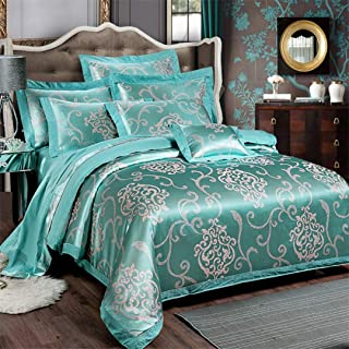 Teensoiibey Chinese Wedding Style Jacquard Bedding 100% Cotton Embroidered Pillowcase Duvet Cover Bed Sheets Such as pictures5 King