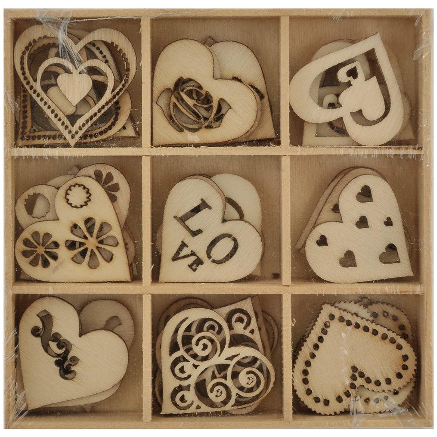 Lucky Dip Wooden Shapes 45/pkg-love 1.25