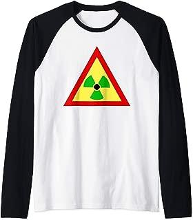 Rasta Radiation Symbol Radioactive  Raglan Baseball Tee