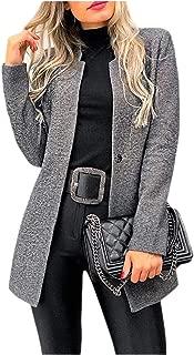 MogogoWomen Long-Sleeve Silm Fit 1-Button Office Woolen Outerwear