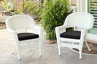 Amazon Com White Wicker Chairs Patio Seating Patio Lawn