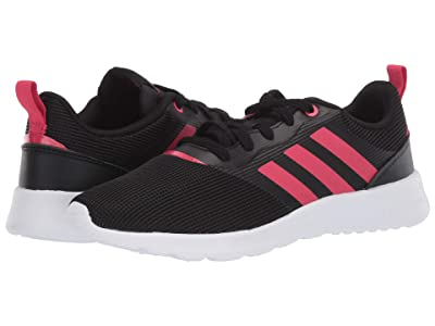 adidas Kids QT Racer 2.0 (Little Kid/Big Kid) (Core Black/Power Pink/Signal Pink) Girls Shoes