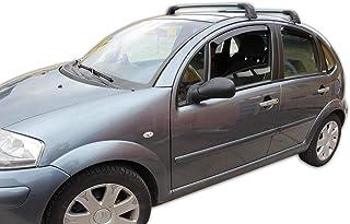 Generico Set DEFLETTORI Antivento Auto Compatibile con CITR/öEN C4 Picasso Rails 5P 06-13 PARAVENTO Anti Vento Acqua Turbo Fume G3