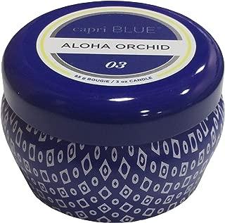 Capri Blue Aloha Orchid Mini Printed Travel Tin Candle-Blue