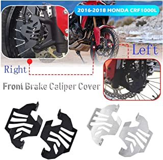 XX eCommerce Motorrad Aluminium Left & Right Bremssattel vorne rechts für 2016 2017 2018 Honda CRF1000L CRF 1000L Africa Twin (Silber)