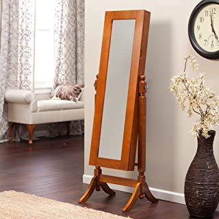 Heritage Jewelry Armoire Cheval Mirror -